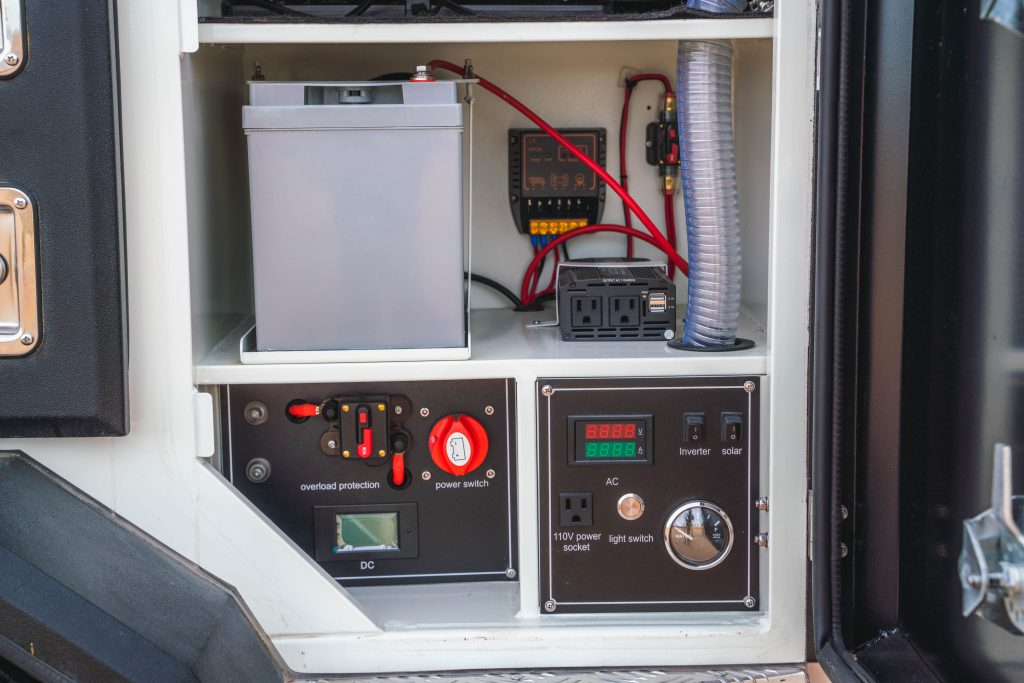 TRIBE Basecamp trailer electrical layout